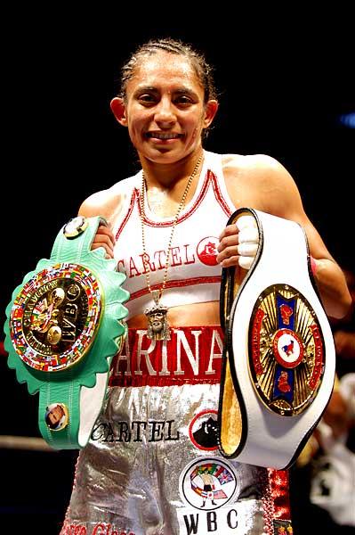 Carina Moreno WBC NABF boxing champion