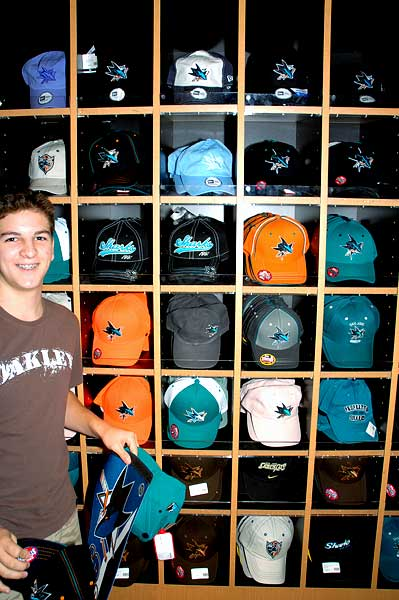 Sharks NHL hats