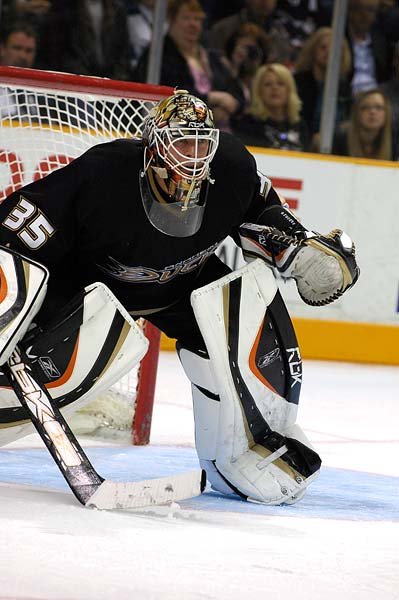 Toronto Maple Leafs Brian Burke trade for Anaheim Ducks goaltender J.S. Giguere Vesa Toskala