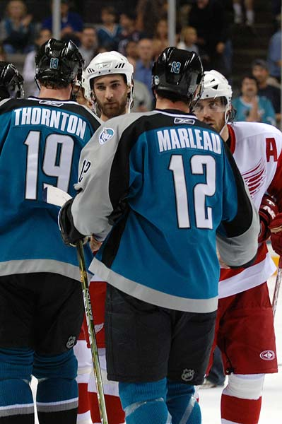 San Jose Sharks Patrick Marleau Joe Thornton