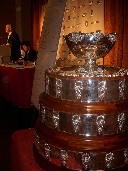 2008 SAP Open tennis tournament Davis Cup trophy