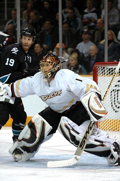 Anaheim Ducks goaltender Jonas Hiller