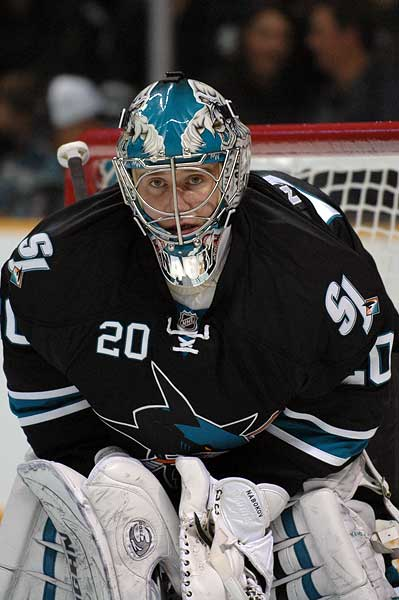 San Jose Sharks goaltender Evgeni Nabokov photo of return