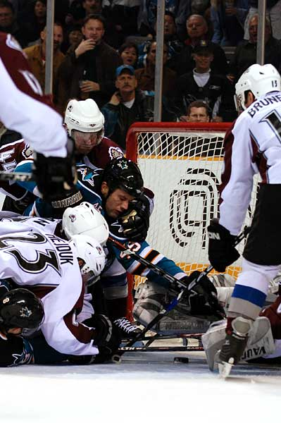 San Jose Sharks Colorado Avalanche hockey photos