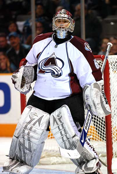 Colorado Avalanche goaltender Jose Theodore