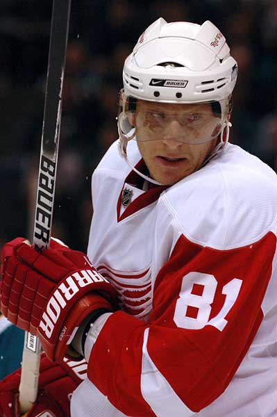 Detroit Red Wings right wing Marian Hossa
