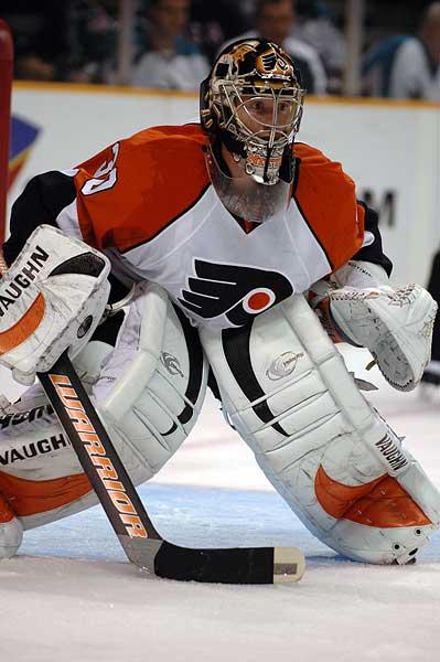 San Jose Sharks Philadelphia Flyers goaltender Antero Niitymaki