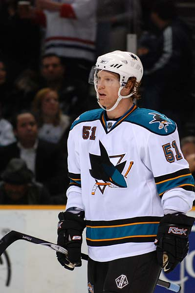 San Jose Sharks defenseman Brian Campbell