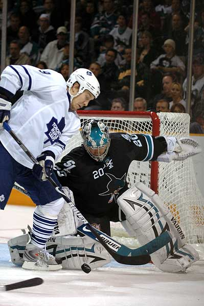 San Jose Sharks goaltender Evgeni Nabokov photo Niklas Hagman