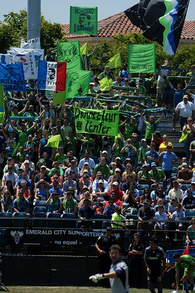 Seattle Sounders FC fans MLS San Jose Earthquakes