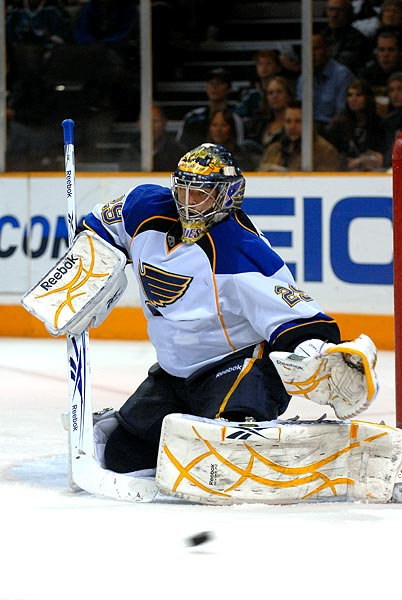 San Jose Sharks St Louis Blues goaltender Ty Conkin shootout win