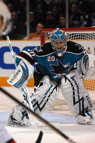 San Jose Sharks goaltender Evgeni Nabokov named to 2010 Russian Olympic hockey team