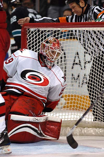 NHL goaltender Carolina Hurricanes Michael Leighton photo