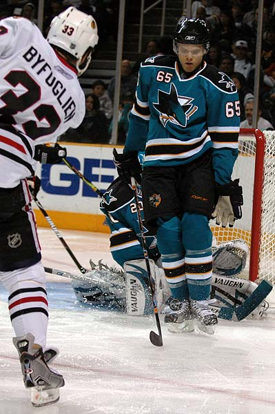 San Jose Sharks goaltender Evgeni Nabokov photo gallery
