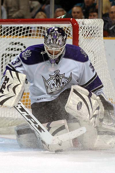 Los Angeles Kings goaltender Erik Ersberg hockey photo