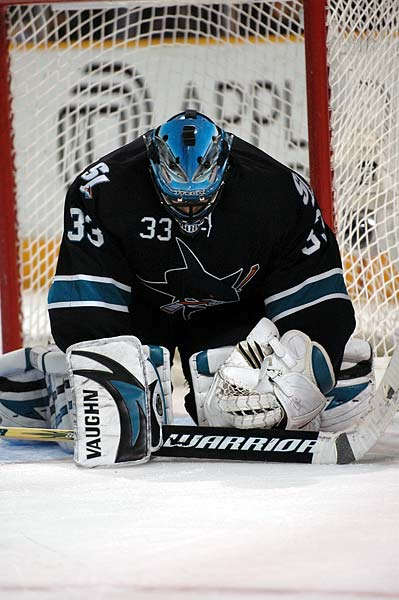 San Jose Sharks goaltender Brian Boucher NHL photo