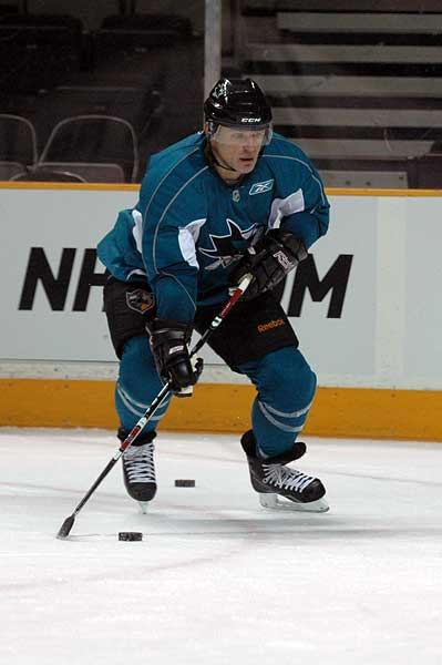 Claude Lemieux debut with the San Jose Sharks