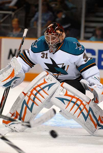 San Jose Sharks 2009 Teal and White game goaltender Tyson Sexsmith