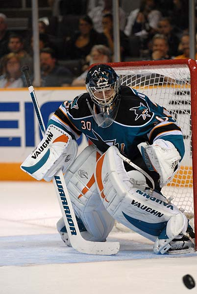 San Jose Sharks goaltender Antero Niittymaki returned to practice on Sunday