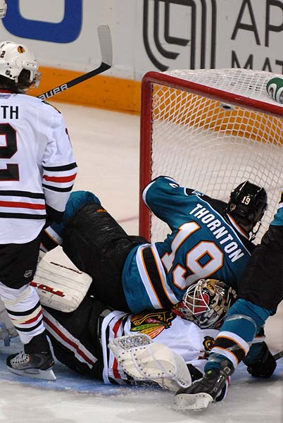 Western Conferenc Finals San Jose Sharks Chicago Blackhawks Joe Thornton Antti Niemi