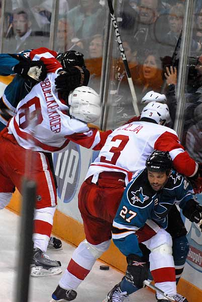 San Jose Sharks Stanley Cup Playoff Western Conference Semifinal Detroit Red Wings George James Malik