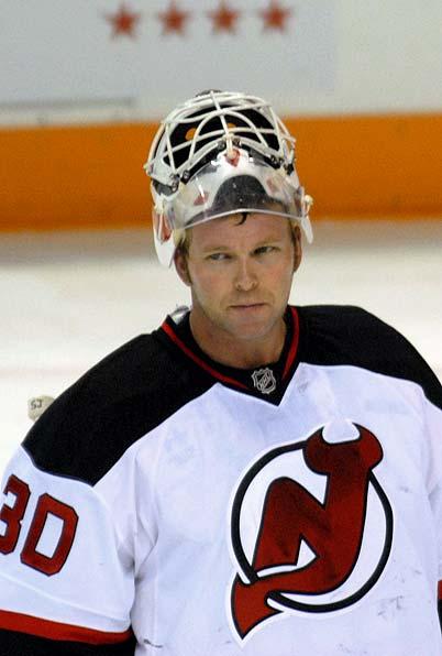 All-time NHL wins leader, games played leader, shutout leader Martin Brodeur after 4 goals against