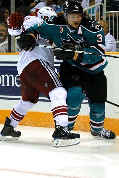 San Jose Sharks split squad NHL preseason game Phoenix Coyotes Douglas Murray
