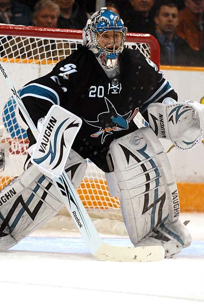 Evgeni Nabokov shutout San Jose Sharks Dallas Stars NHL hockey