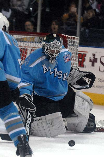 ECHL Kelly Cup Playoffs Stockton Thunder Alaska Aces goaltender Scott Reid