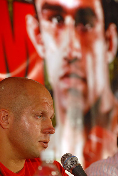 Fedor Emelianenko discusses his loss after Strikeforce M1 Global main event at press conference