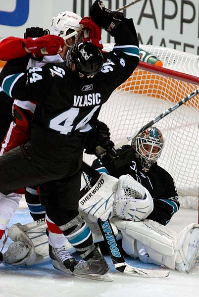 San Jose Sharks game 7 Detroit Red Wings Justin Abdelkader hit Marc Edouard Vlasic