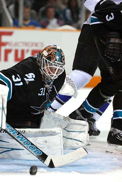San Jose Sharks Los Angeles Kings Stanley Cup Playoffs goaltender Antti Niemi