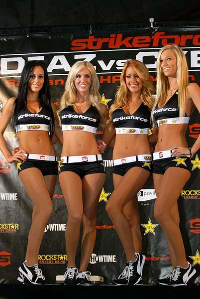 Strikeforce ring girls at Weigh-Ins
