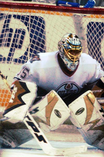 Edmonton Oilers goaltender Dwayne Roloson 2006 Western Conference Semifinals archive photo