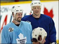 Owen Nolan and Mats Sundin