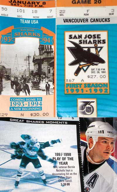 San Jose Sharks NHL hockey tickets