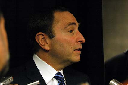 NHL Commisioner Gary Bettman