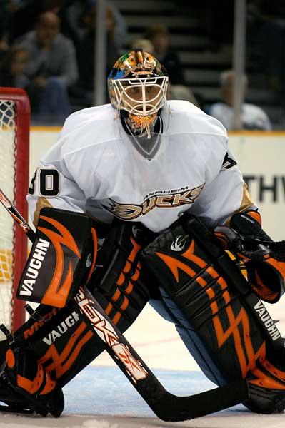 Anaheim Ducks goaltender Ilya Bryzgalov