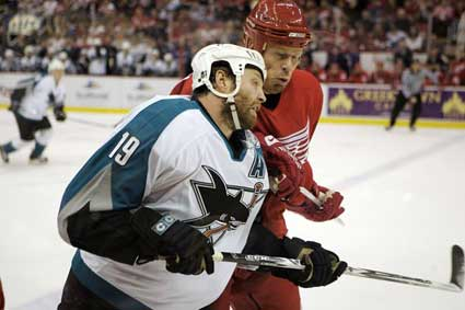 Joe Thornton Johan Franzen
