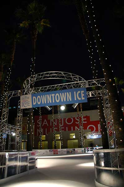 Downtown Ice outdoor San Jose skating rink