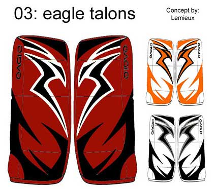 Eagle goalie pad contest design