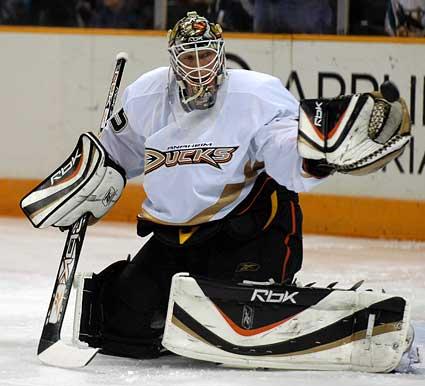 J.S. Giguere Anaheim Ducks