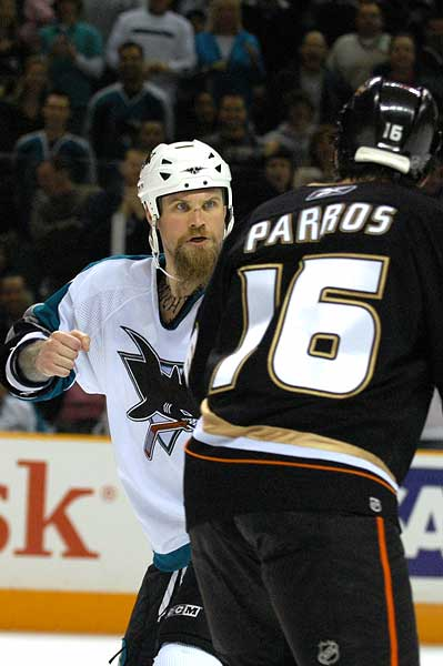 Scott Parker hockey fight George Parros