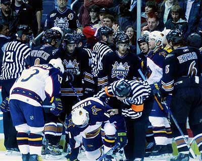 Washington Capitals Atlanta Thrashers photo Ellen Blanchard