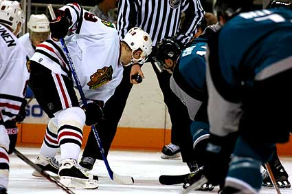 Sharks vs Chicago Blackhawks