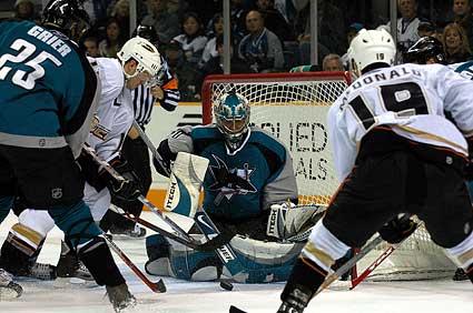 San Jose Sharks Evgeni Nabokov