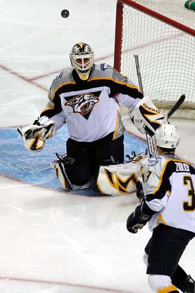 Nashville Predators goaltender Tomas Vokoun