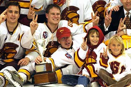 USC Trojans Pac8 college hockey championship