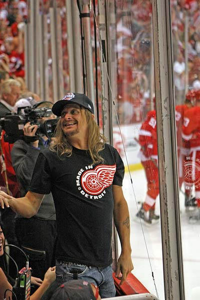 Detroit Red Wings fan Kid Rock at Stanley Cup Finals game 2