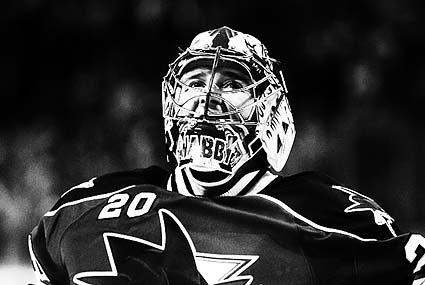 San Jose Sharks goaltender Evgeni Nabokov Stanley Cup Playoffs hockey photo